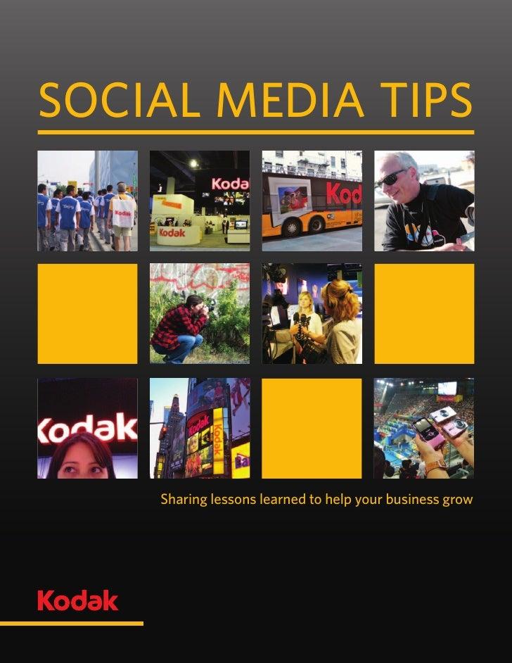 Les médias sociaux vus par Kodak, 2010