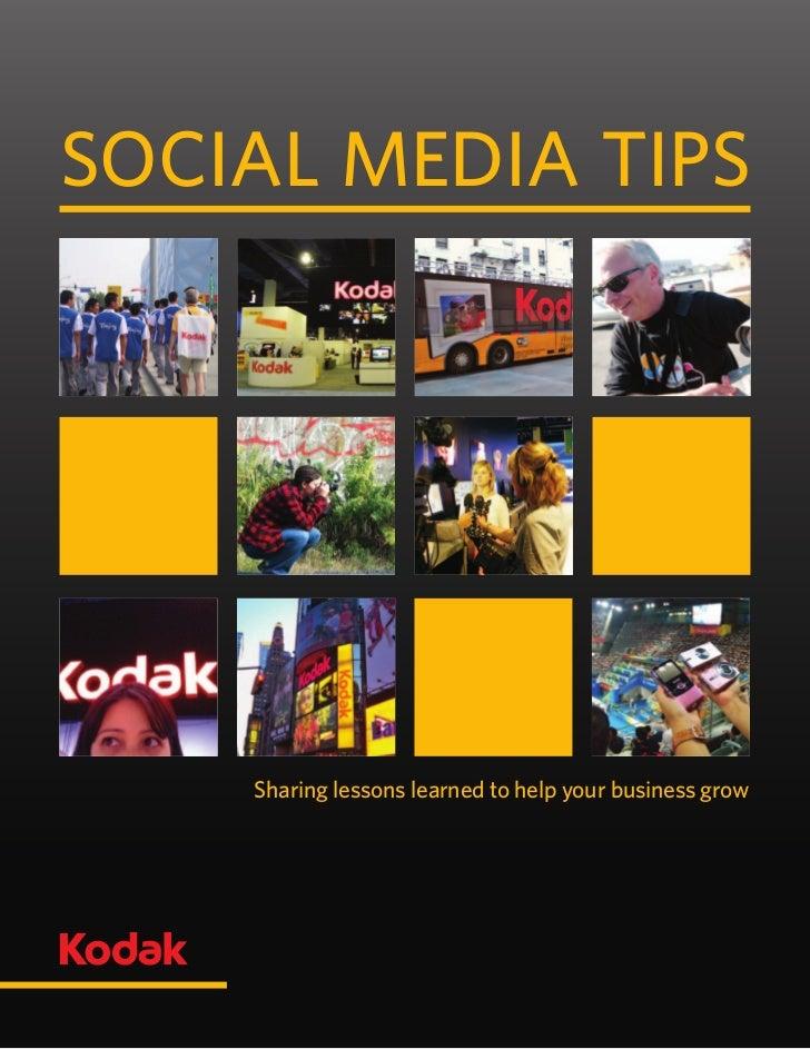 Kodak Social Media Tips Booklet 2011
