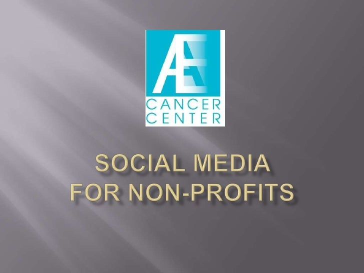 Social Media For Cancer Centers