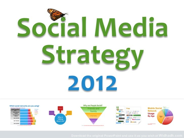 Social	  Media	    Strategy	  	      2012	        Download the original PowerPoint and use it as you wish at Widhadh.com