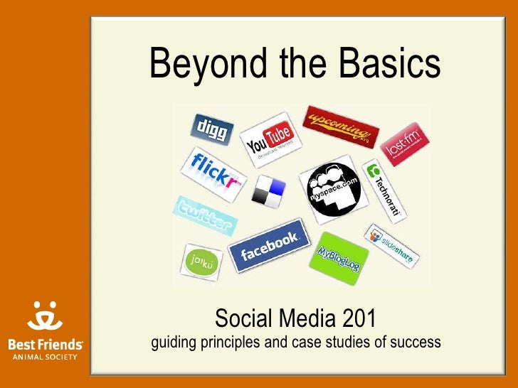 Beyond the Basics Social Media 201 guiding principles and case studies of success