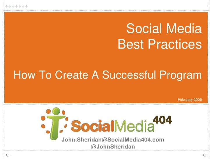 Social Media                          Best Practices  How To Create A Successful Program                                  ...