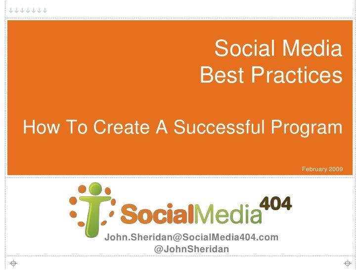 Social Media404 Oasis Social Media Best Practices