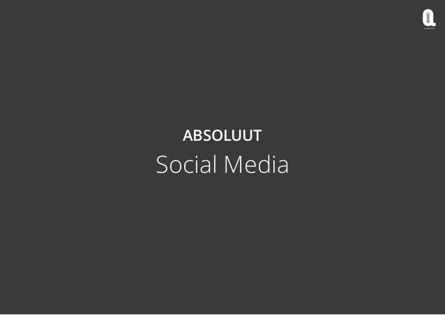 Social media Absoluut