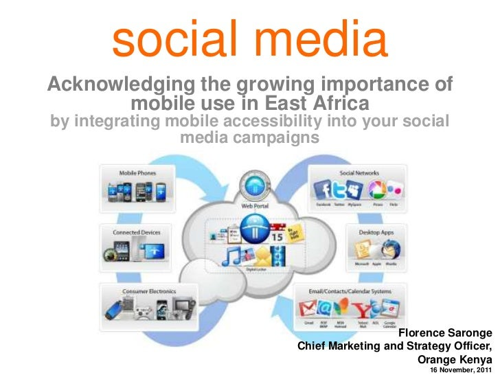 Social media acknowledging the growing importance of mobile use in east africa