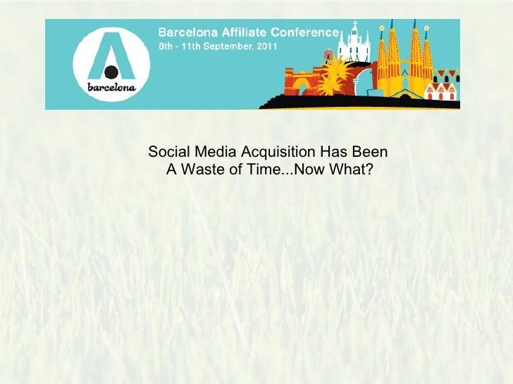 Social media acquisition nick garner