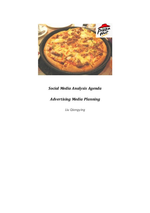 Social Media Analysis Agenda Advertising Media Planning Liu Qiongying