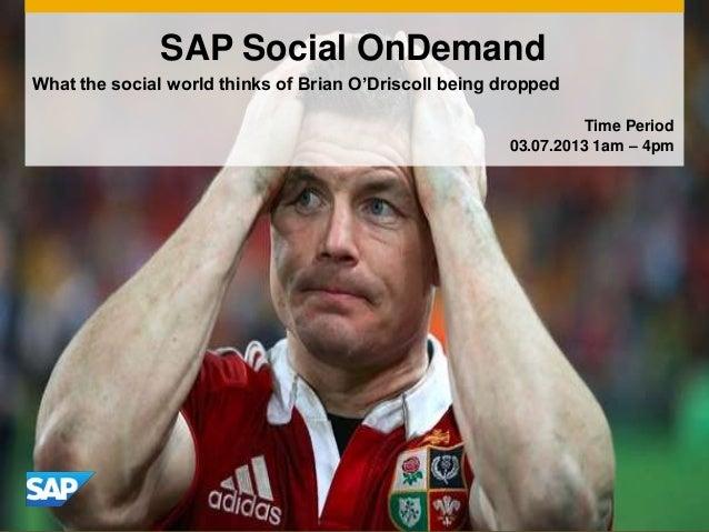 Social media analytics bod