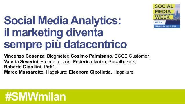 Social Media Analytics smw milan2013