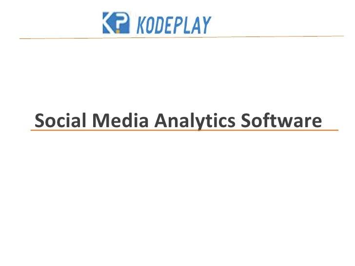 Social Media Analytics Software