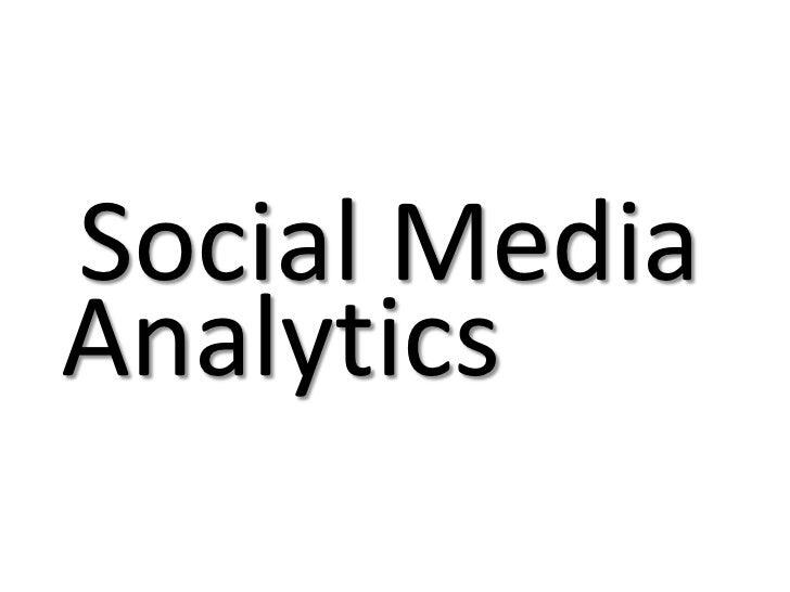 Social MediaAnalytics