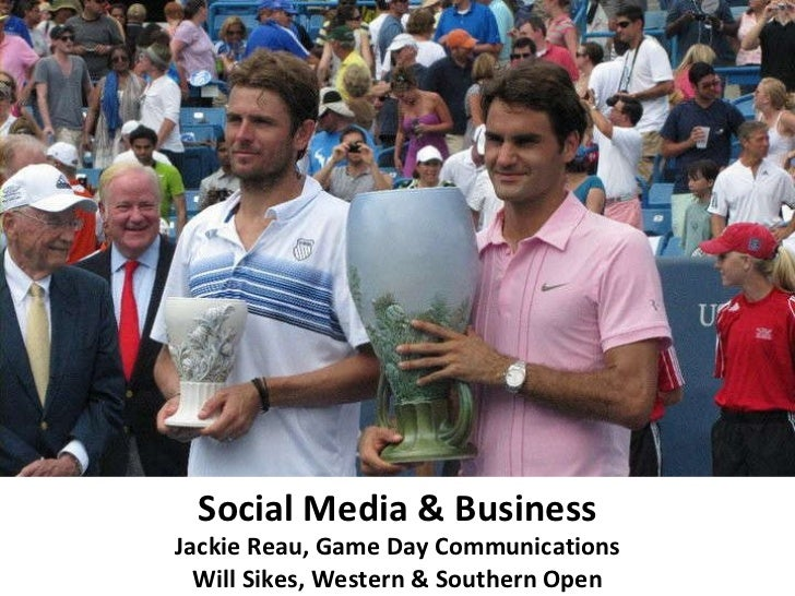 Social Media & Business Jackie Reau, Game Day Communications Will Sikes, Western & Southern Open
