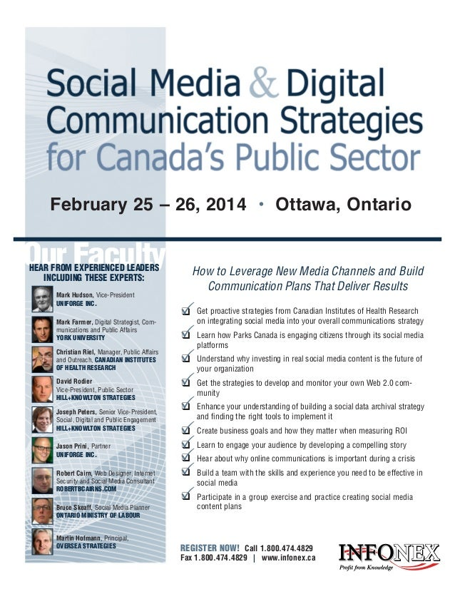 February 25 – 26, 2014 • Ottawa, Ontario  Our Faculty HEAR FROM EXPERIENCED LEADERS INCLUDING THESE EXPERTS: Mark Hudson, ...