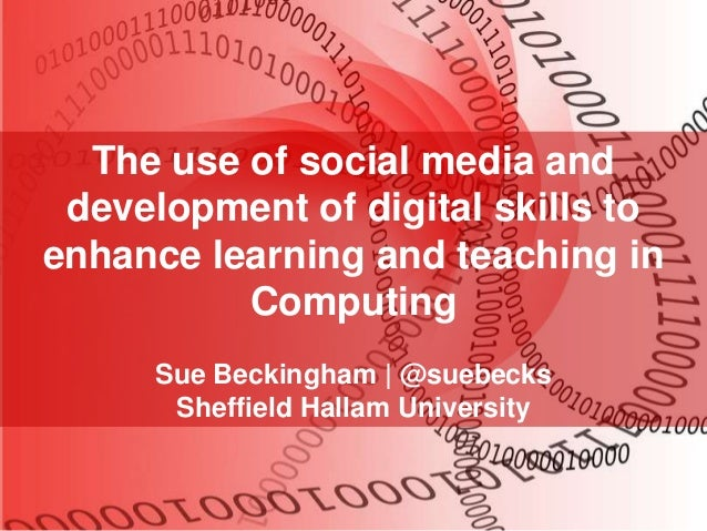 The Use of Social Media and Digital Skills Development in Computing