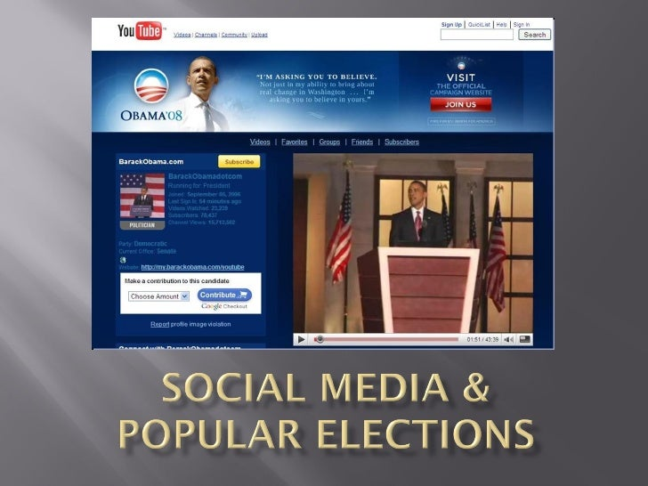Social Media And Popular Elections