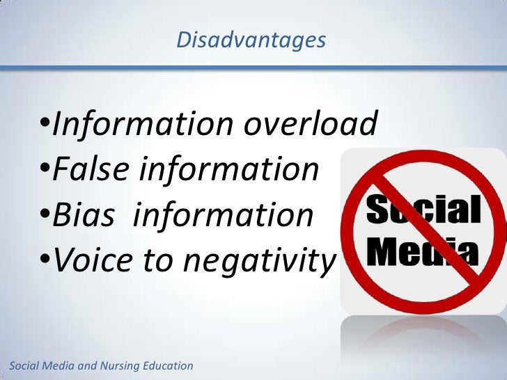 Media Advantages And Disadvantages Essay
