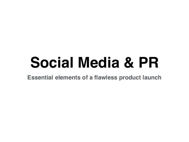 Social media and  PR