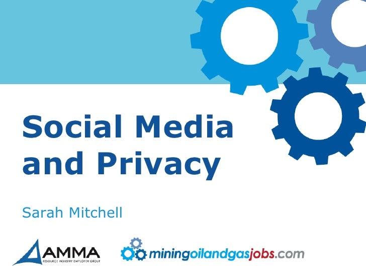 Social Media and Privacy - Education Across the Nation - Australian Computer Society