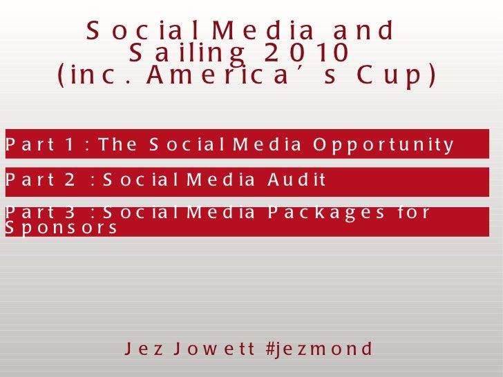 Part 1 : The Social Media Opportunity  Part 2 : Social Media Audit Part 3 : Social Media Packages for Sponsors Social Medi...