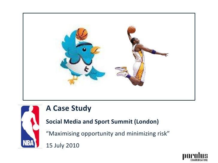 NBA case study by Adam Vincenzini