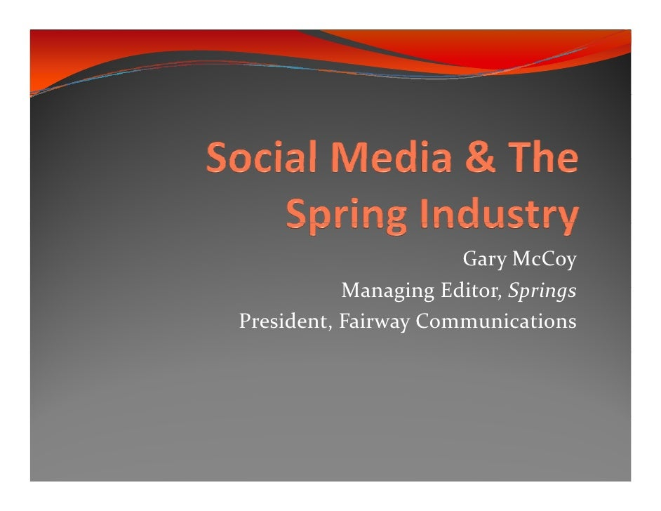 Social media and springs