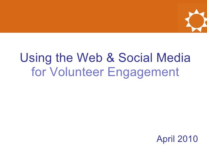 Using the Web & Social Media for Volunteer Engagement
