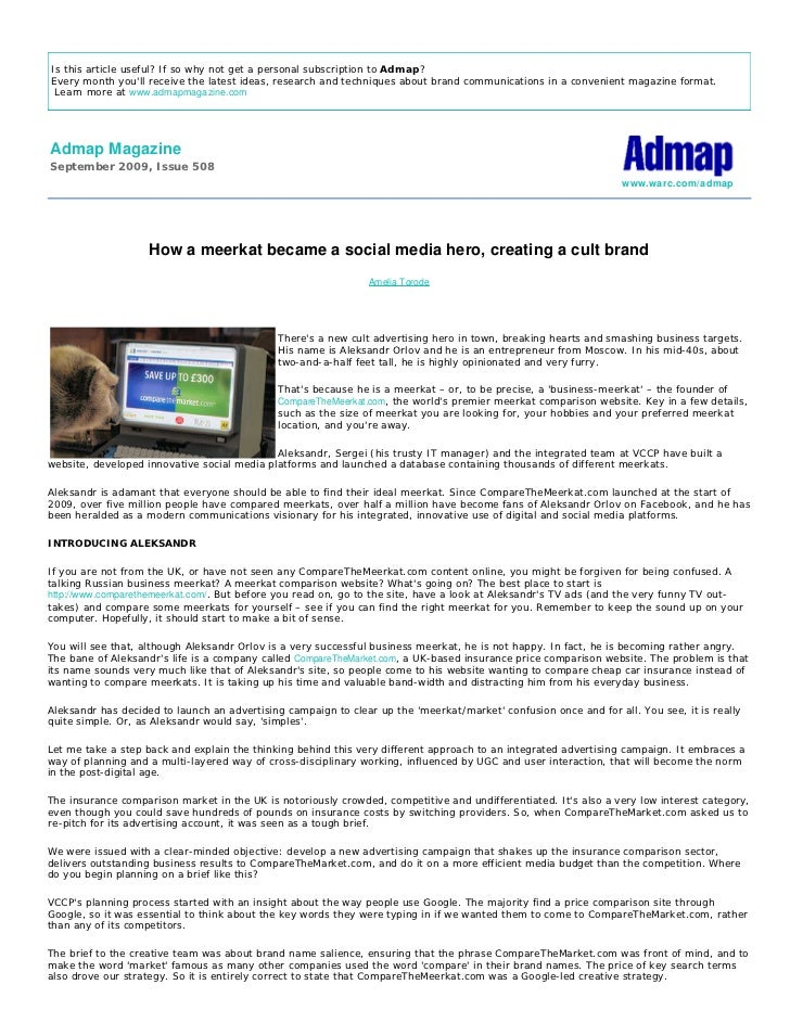 Is this article useful? If so why not get a personal subscription to Admap? Every month you'll receive the latest ideas, r...