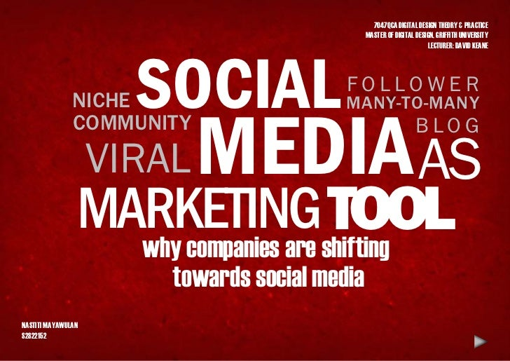 Social media as marketing tool