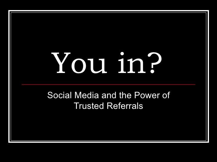 Social Media As Sales Tool
