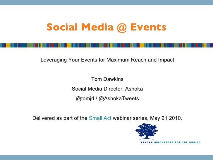 How Social Media Enhances Events