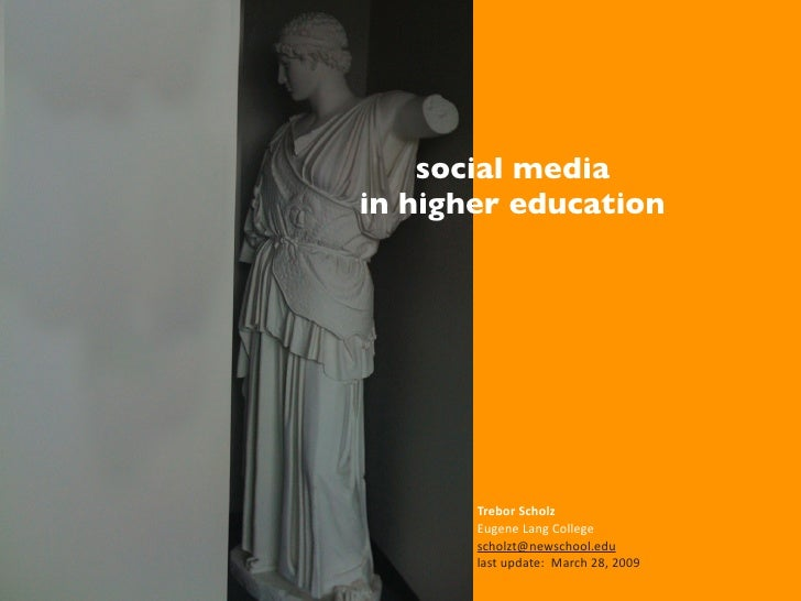 Social Media for Higher Education