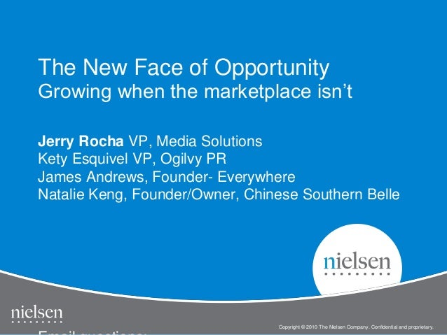 Copyright © 2010 The Nielsen Company. Confidential and proprietary. Jerry Rocha VP, Media Solutions Kety Esquivel VP, Ogil...