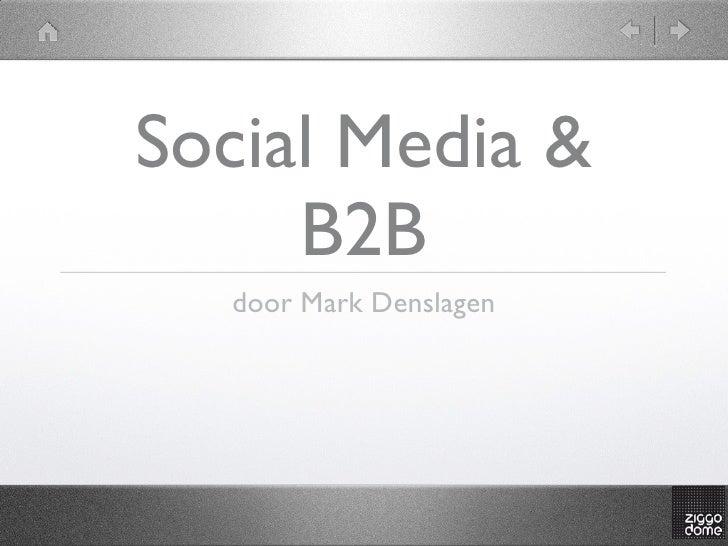Social media b2 b