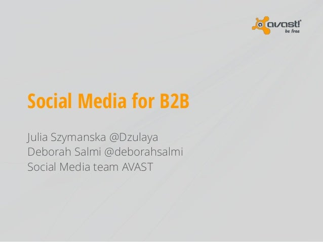 Social Media for B2B: introduction