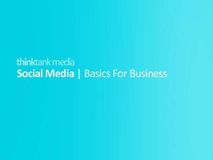 Social Media Basics for business