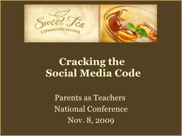 Social Media Basics Presentation To Parents As Teachers Natl Conf