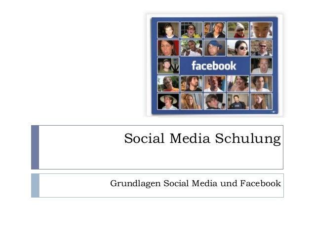 Social Media Schulung Grundlagen Social Media und Facebook