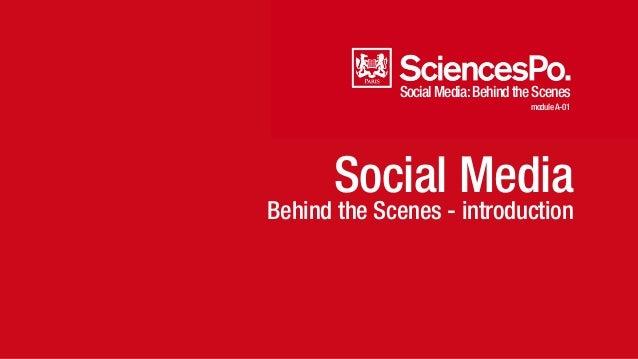 Social Media: Behind the Scenes  module A-01  Social Media  Behind the Scenes - introduction