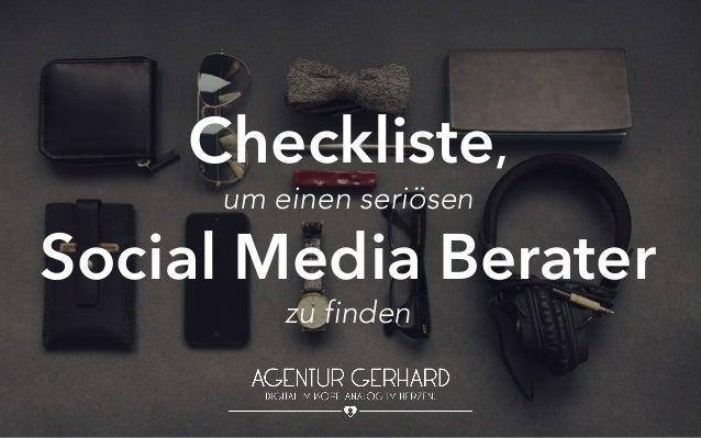 Checkliste, um einen seriösen Social Media Berater zu finden