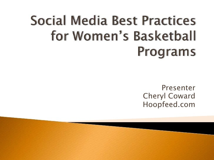 Social media best practices for women's basketball teams
