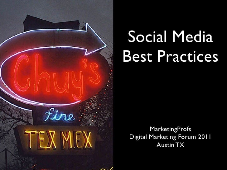 Social Media                            Best Practices                                      MarketingProfs                ...