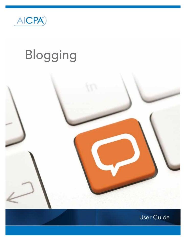 Blogging           User Guide