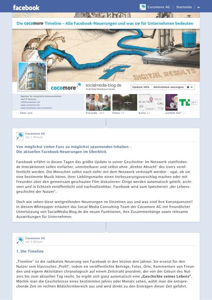 Cocomore AG         StartseiteDie                    Timeline – Alle Facebook-Neuerungen und was sie für Unternehmen bedeu...