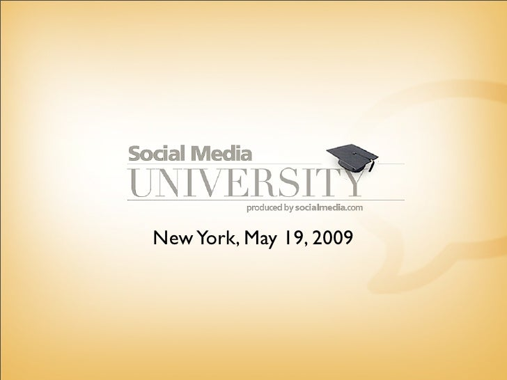 New York, May 19, 2009