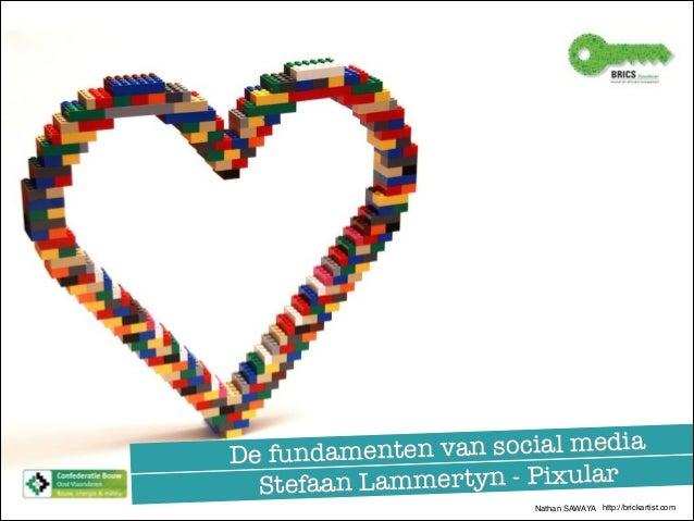 ten van social media De fundamen Lammertyn - Pixular Stefaan Nathan SAWAYA http://brickartist.com