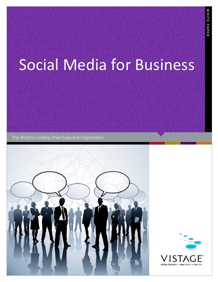 Social Media Whitepaper for CEOs