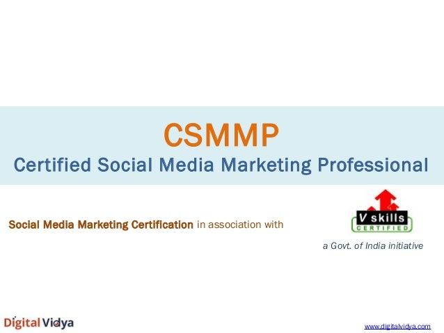 Social Media Certification - CSMMP
