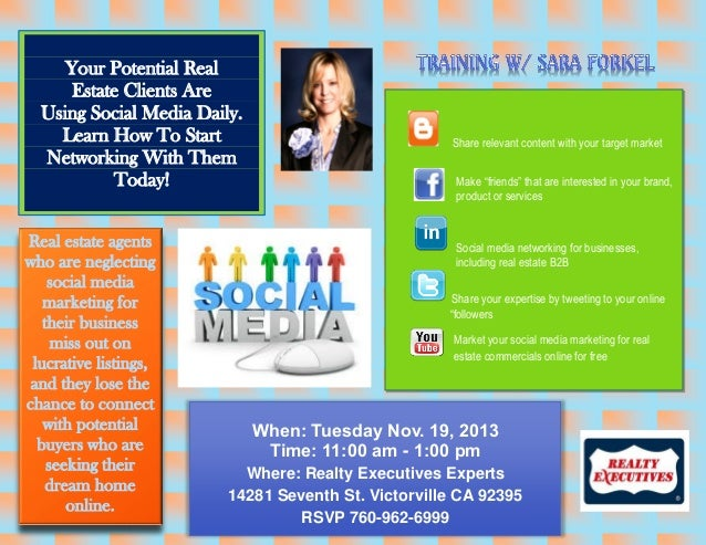 Your Potential Real Estate Clients Are Using Social Media Daily. Learn How To Start Networking With Them Today! Real estat...
