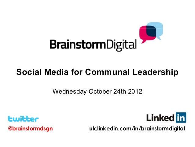 Social media for communal leaders