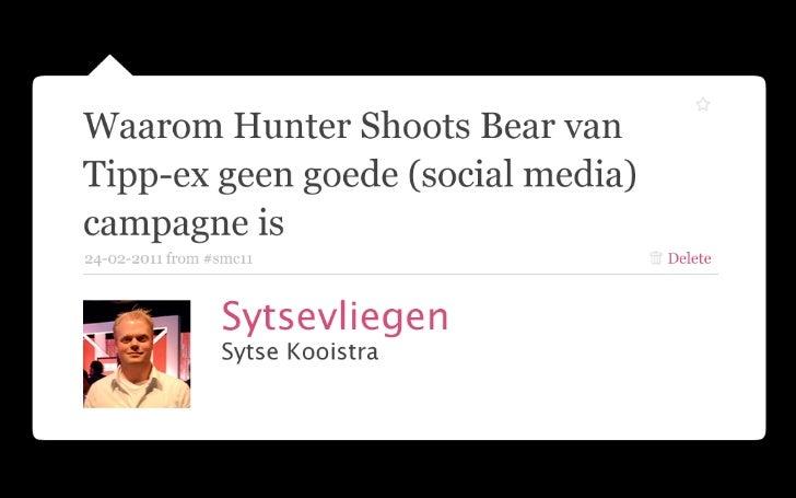 Waarom Hunter Shoots Bear van Tipp-ex geen goede (social media) campagne is - Social Media Congres 2011